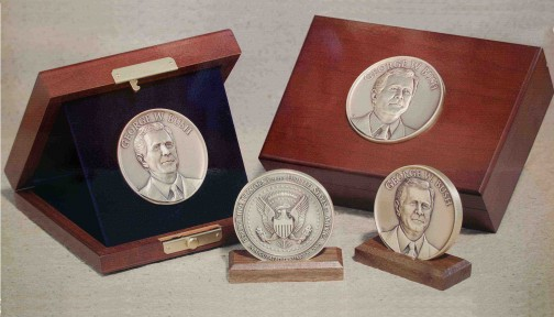 13-Bush Inaugural Medallion Boxes